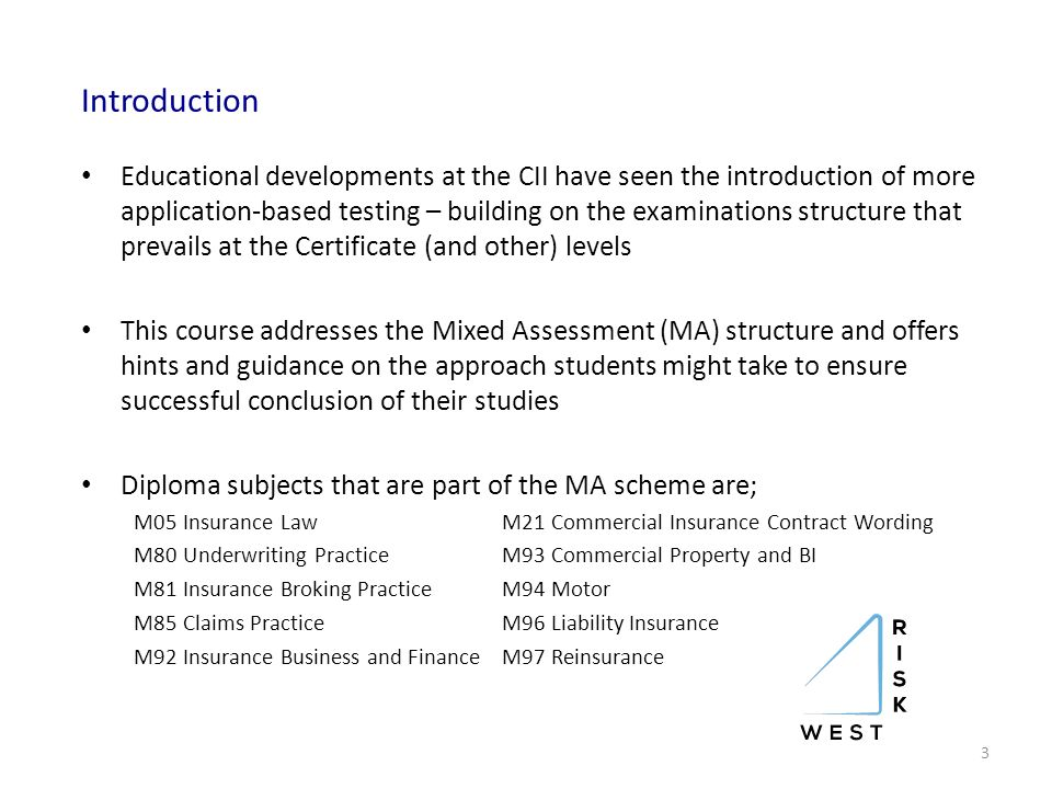 cii coursework assessment