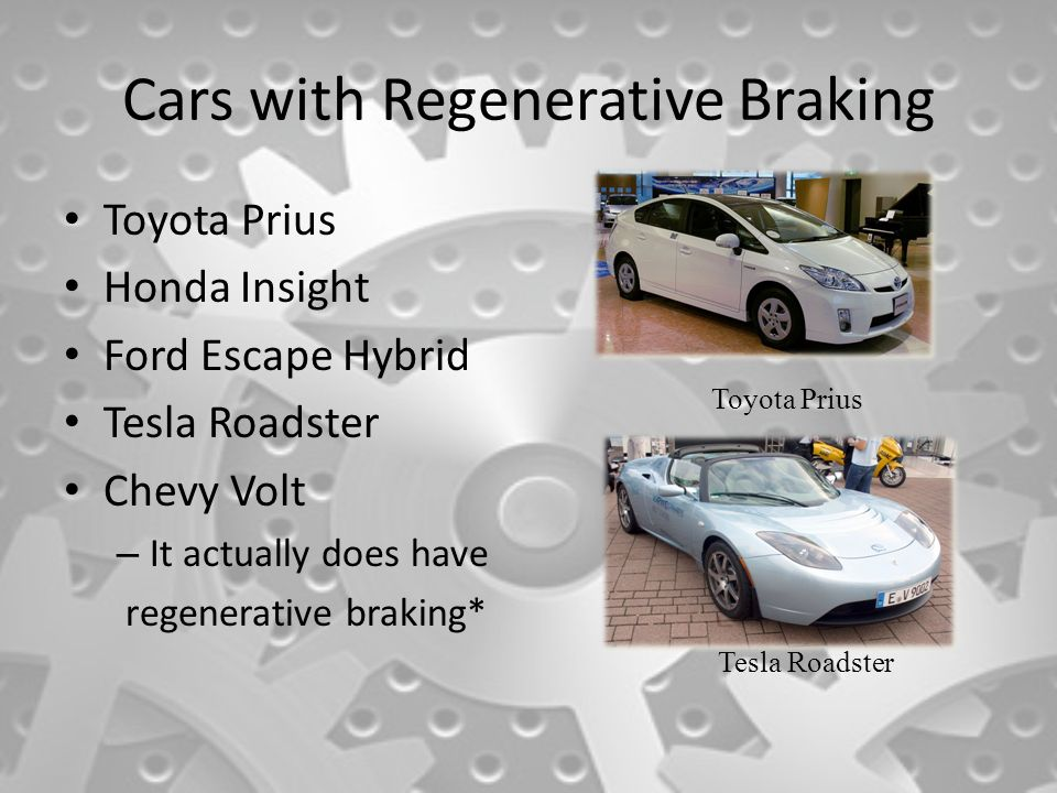 Cars With Regenerative Braking