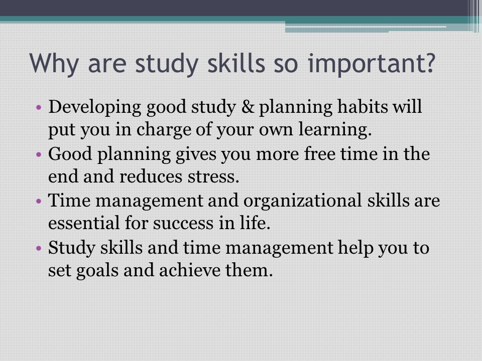 importance of study habits to students