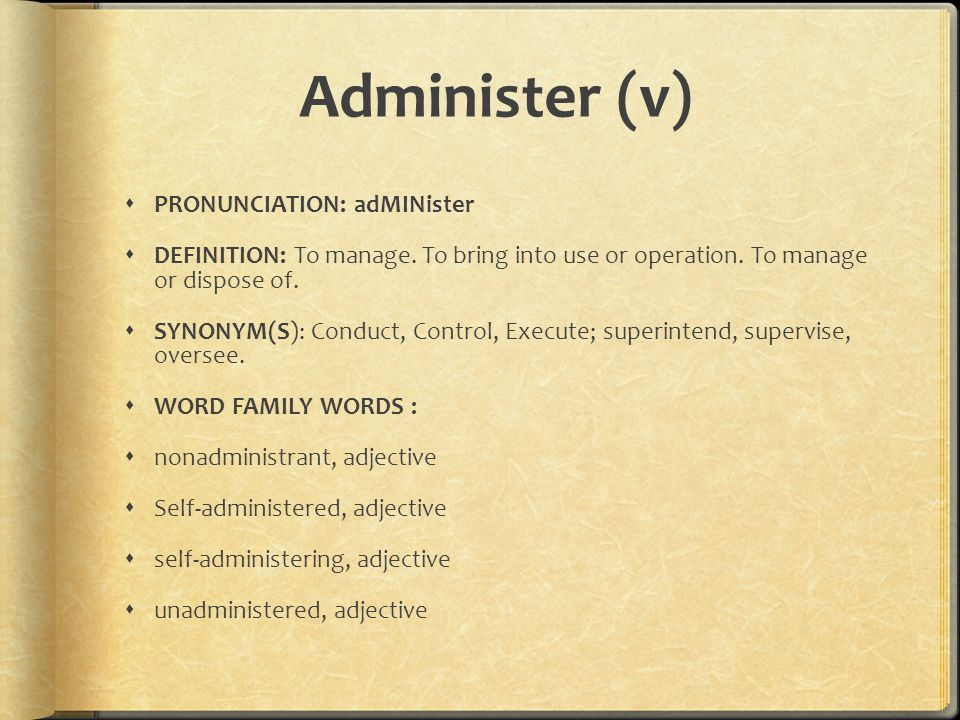 Administer, Compute, Element - ppt download