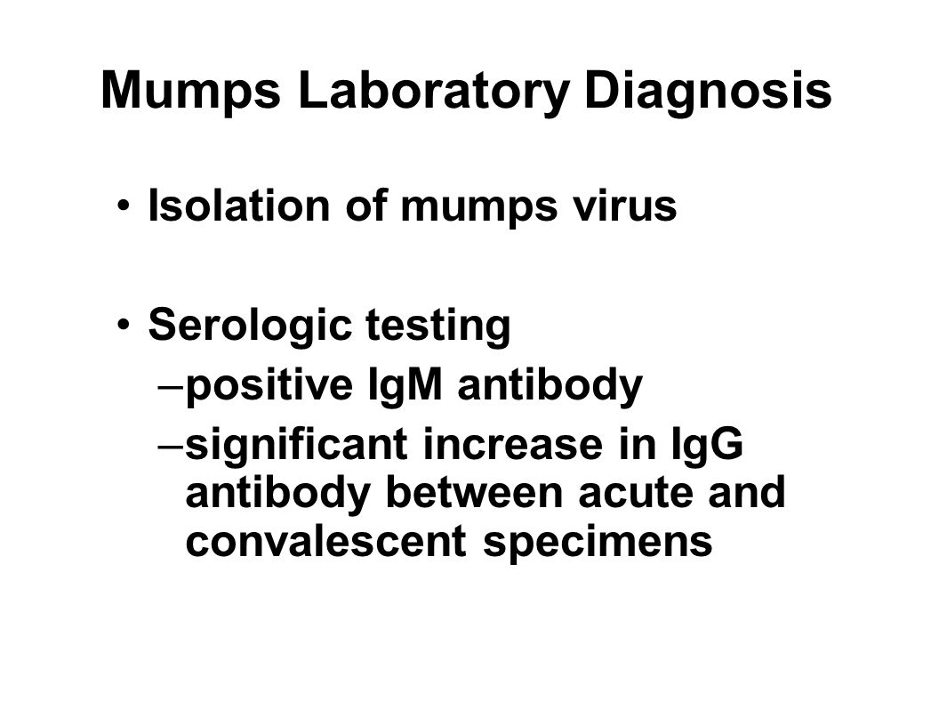 mumps diagnostic test
