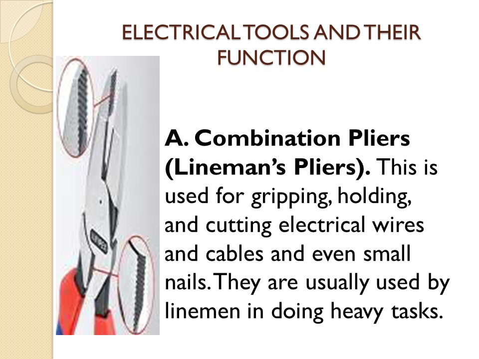 ELECTRICAL TOOLS and ITS FUNCTION - ppt video online download