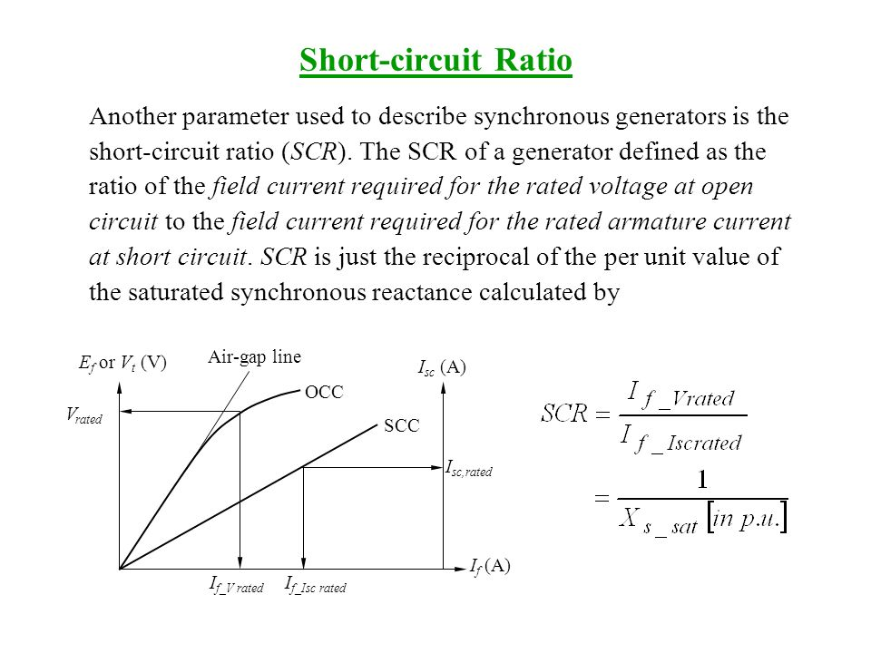 synchronous machines ppt download23 short circuit ratio another parameter used to describe synchronous generators is the