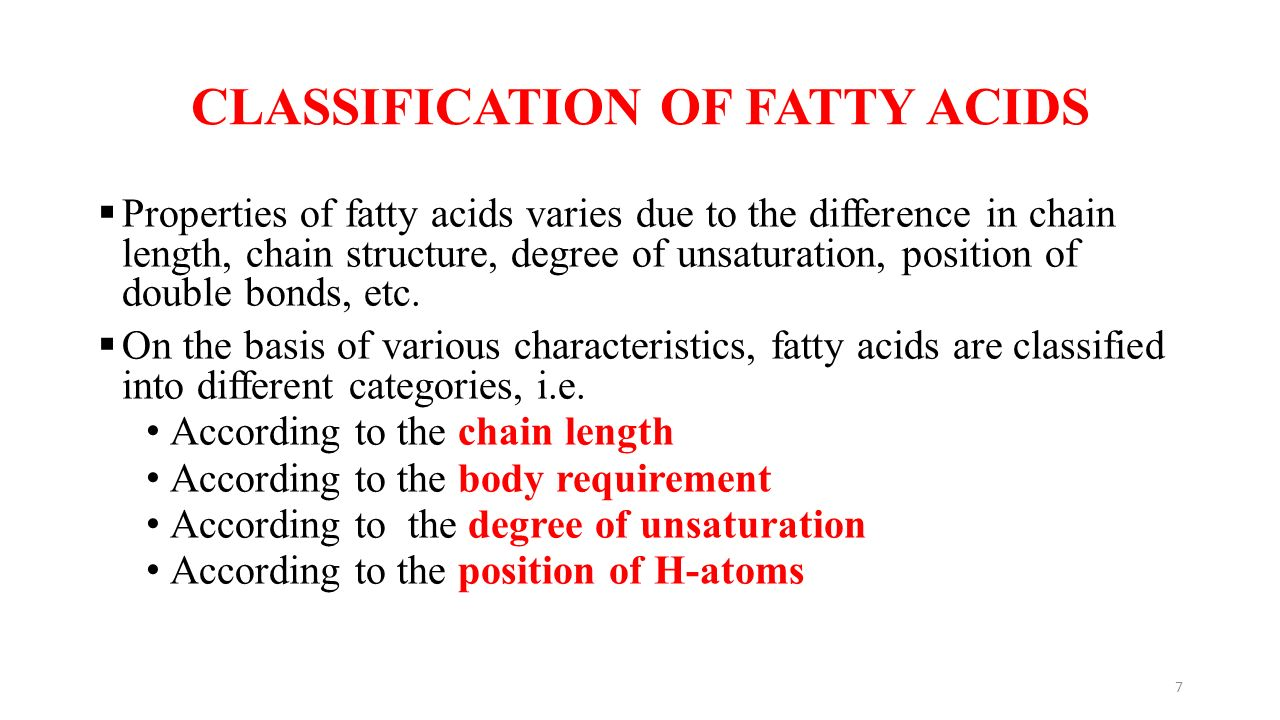 What are fats Definition, formula, classification, properties 41