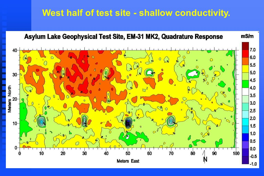 The western michigan university asylum lake geophysical test site 26 west half of test site shallow conductivity fandeluxe Image collections