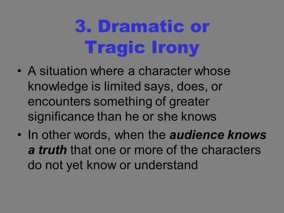 significance of irony