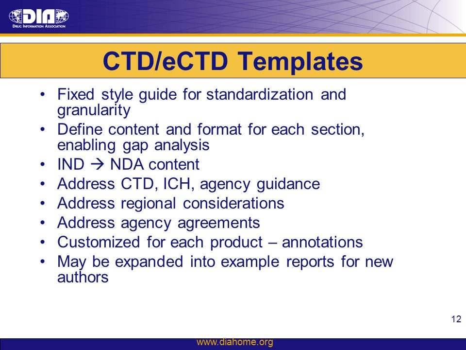 DIA ERS SIAC IND CMC eCTD Submissions Part II – IND to NDA - ppt