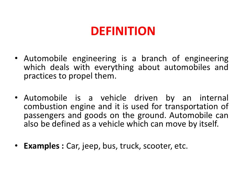 Automobile Engineering Ppt Video Online Download