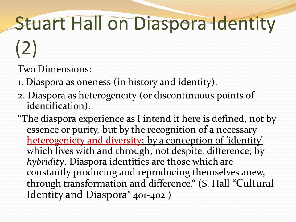 stuart hall cultural identity