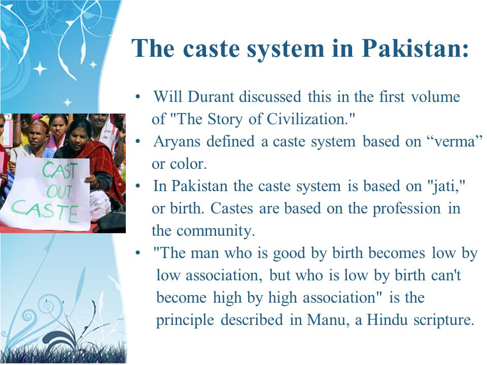 TOPIC CASTE SYSTEM AND RACISM IN PAKISTAN  TOPIC CASTE