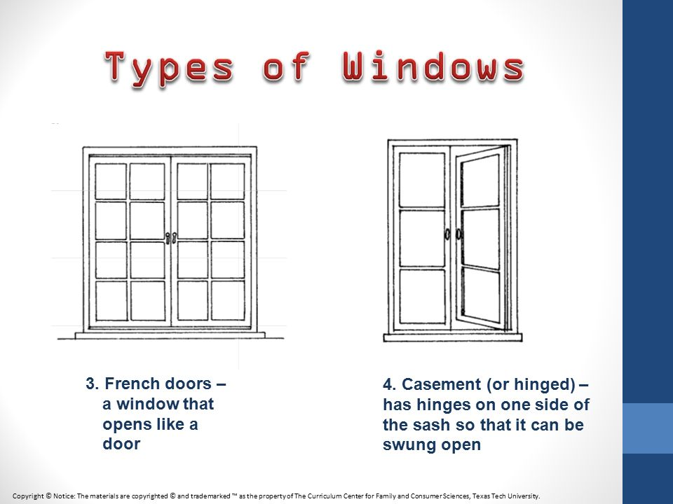 Charmant Types Of Windows 3. French Doors U2013 A Window That Opens Like A Door