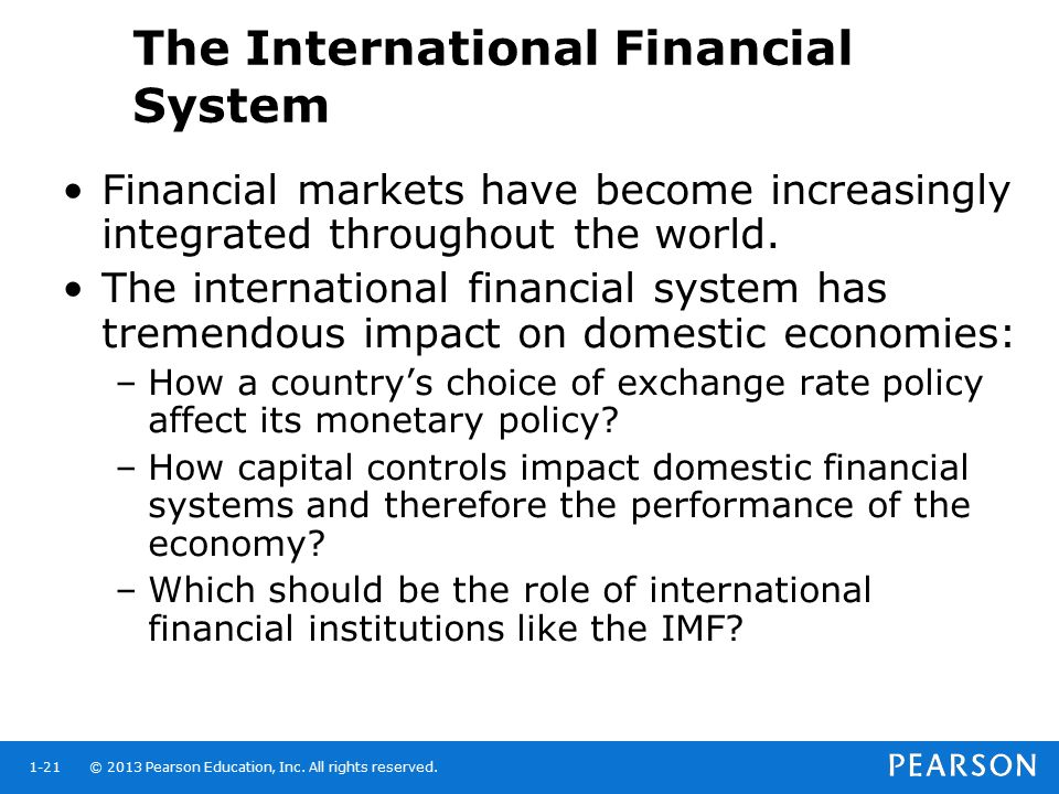 The International Financial System