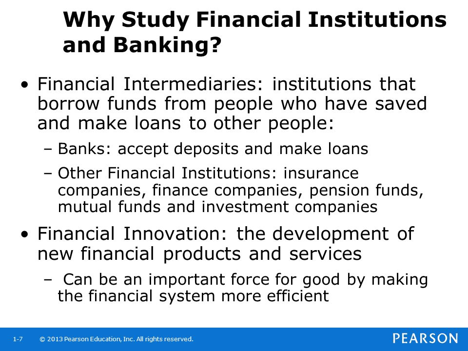 Why Study Financial Institutions and Banking