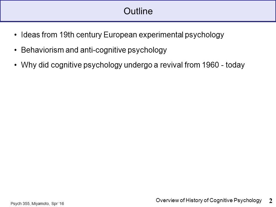 Brief History Of Cognitive Psychology Ppt Download