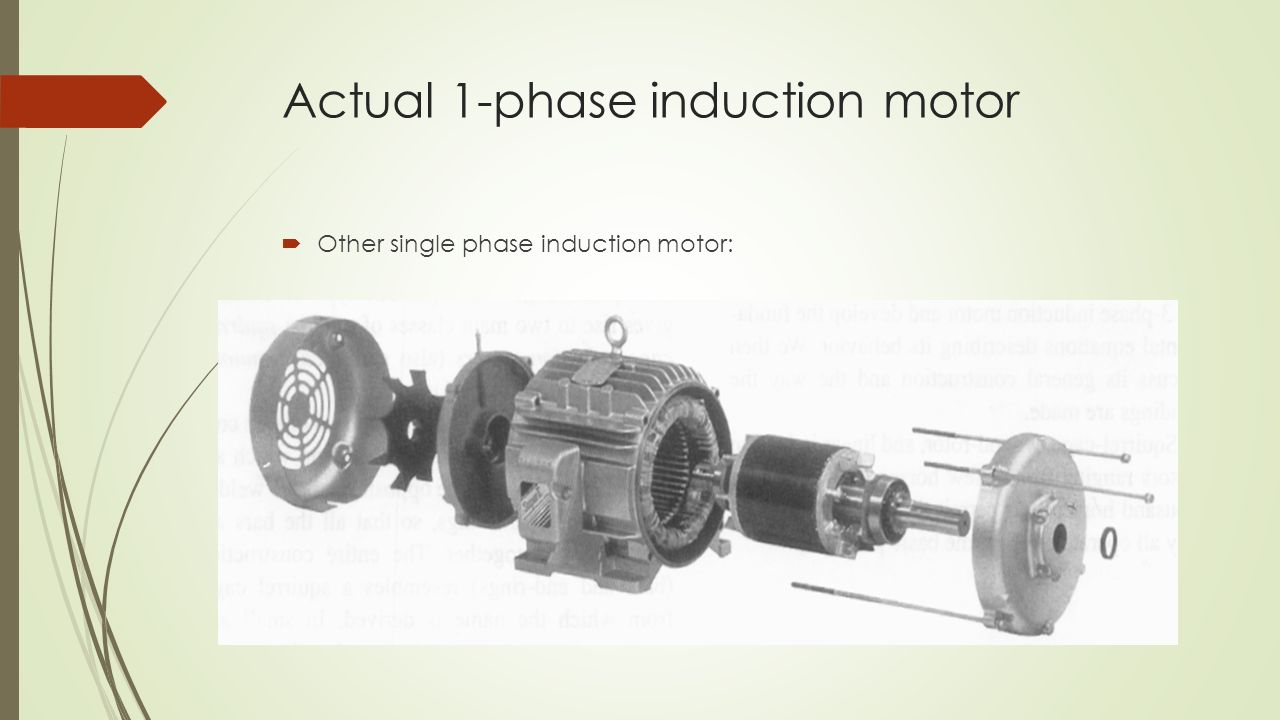 Single Phase Induction Motor Ppt Download Circuit Diagram Of Repalcement Parts Actual 1