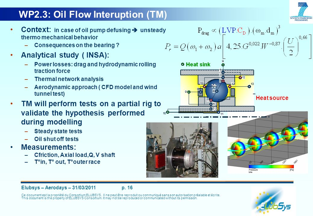 WP2.3: Oil Flow Interuption (TM)