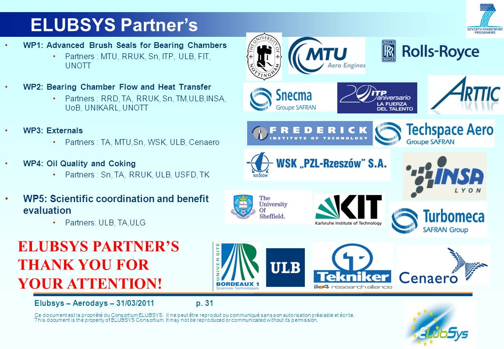 ELUBSYS Partner's ELUBSYS PARTNER'S THANK YOU FOR YOUR ATTENTION!