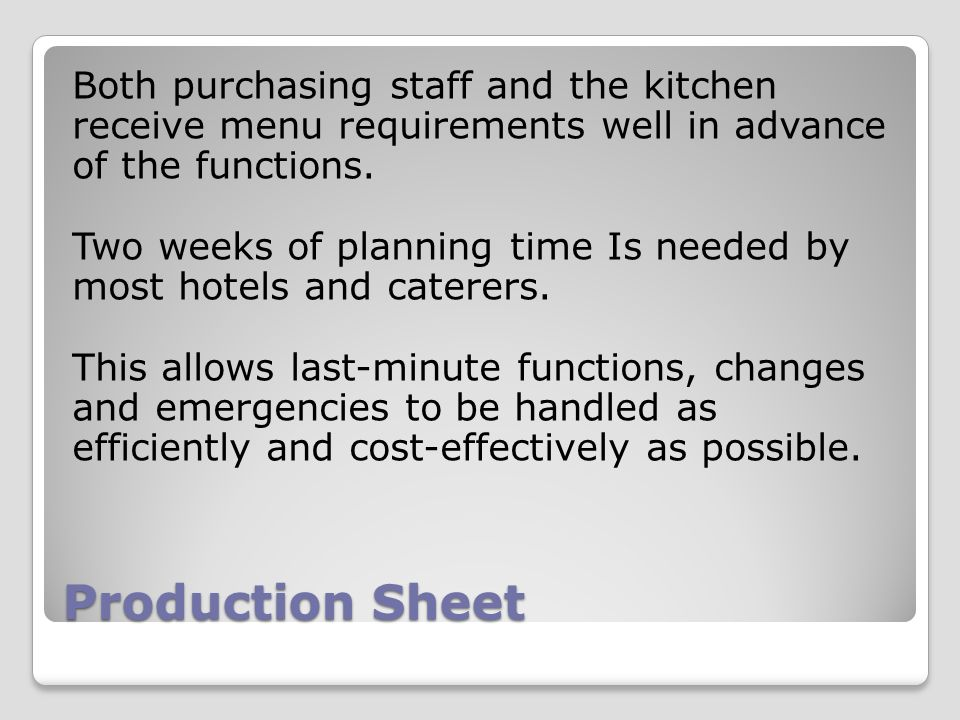 Food And Beverage Operational Controls