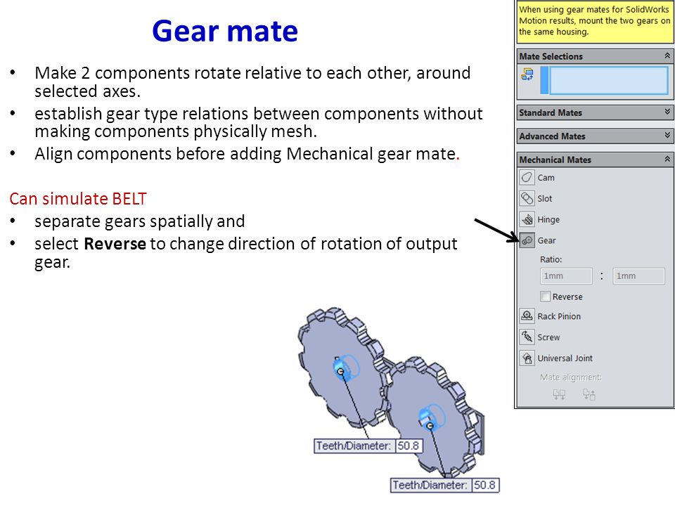 Mate Types in SolidWorks - ppt download