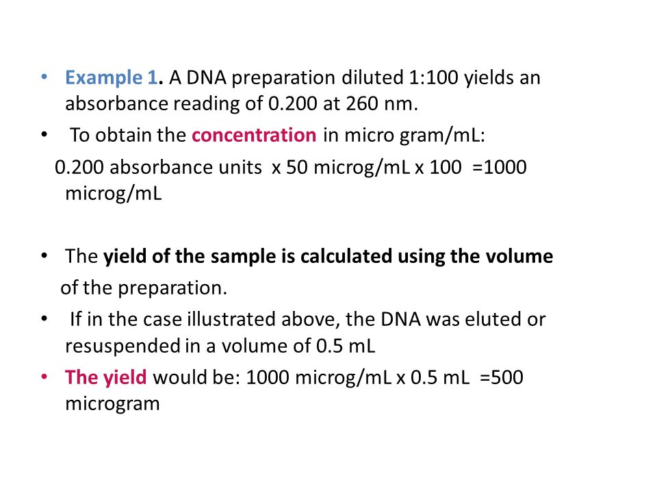 Solved: bio 325 final 1. What is the concentration of dna w.