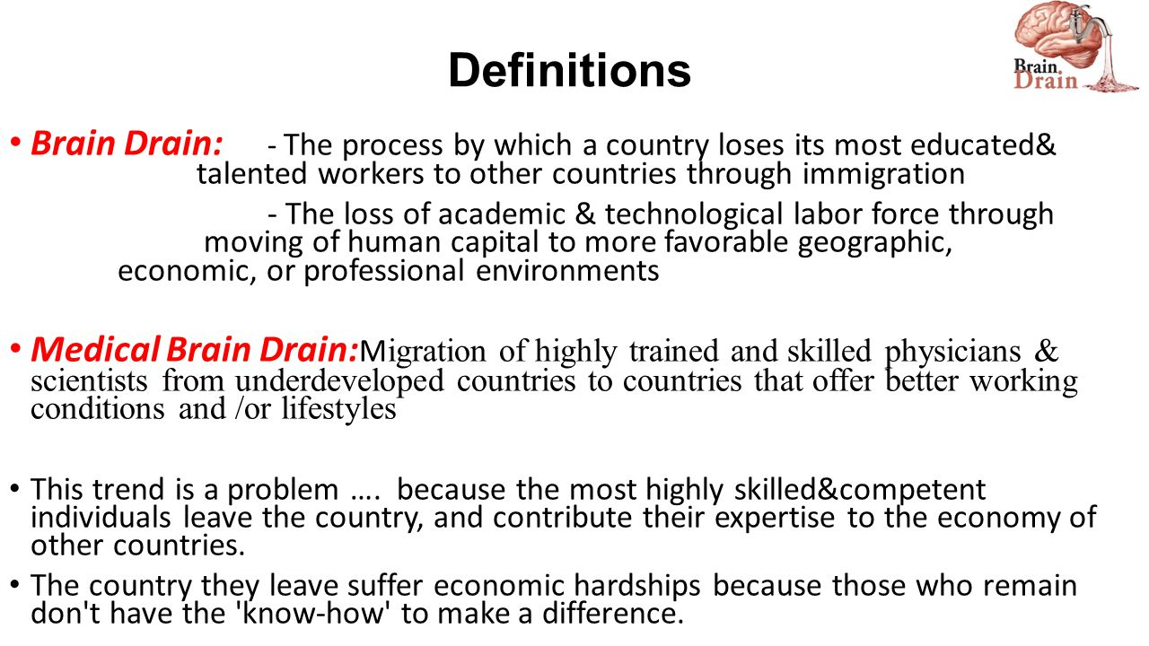 what does brain drain mean in economics