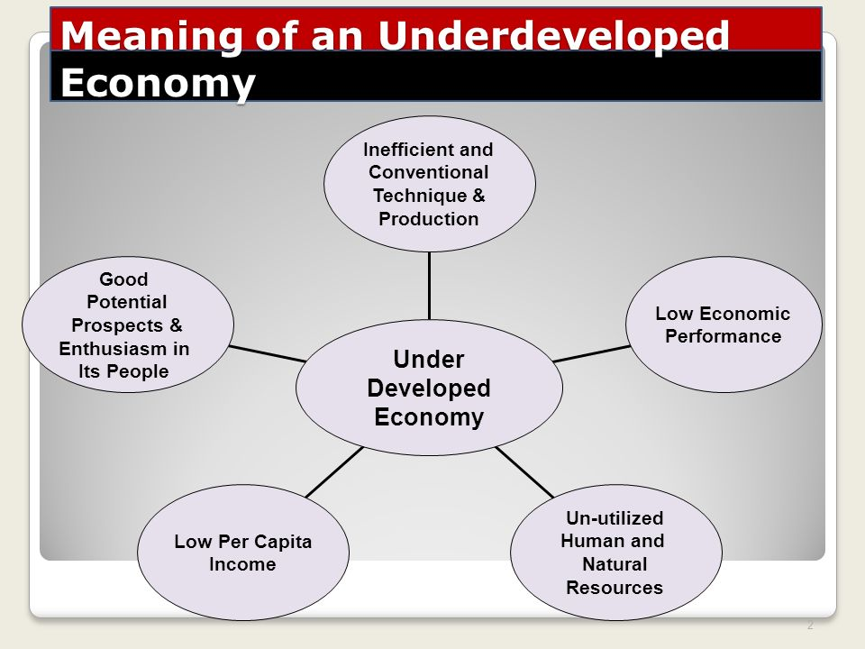 developed and underdeveloped economies