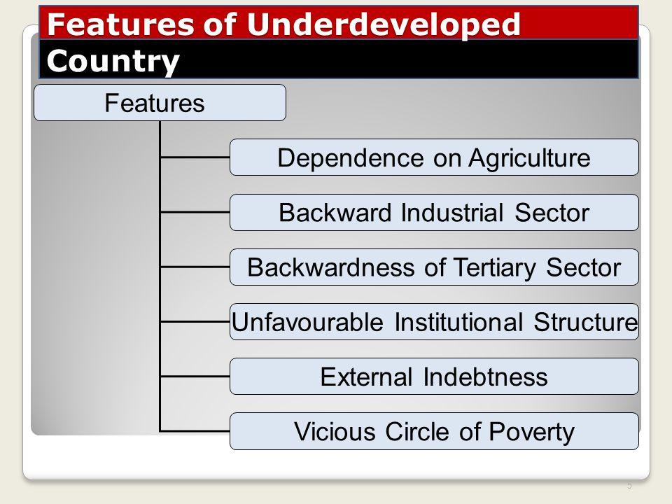 define underdeveloped economy