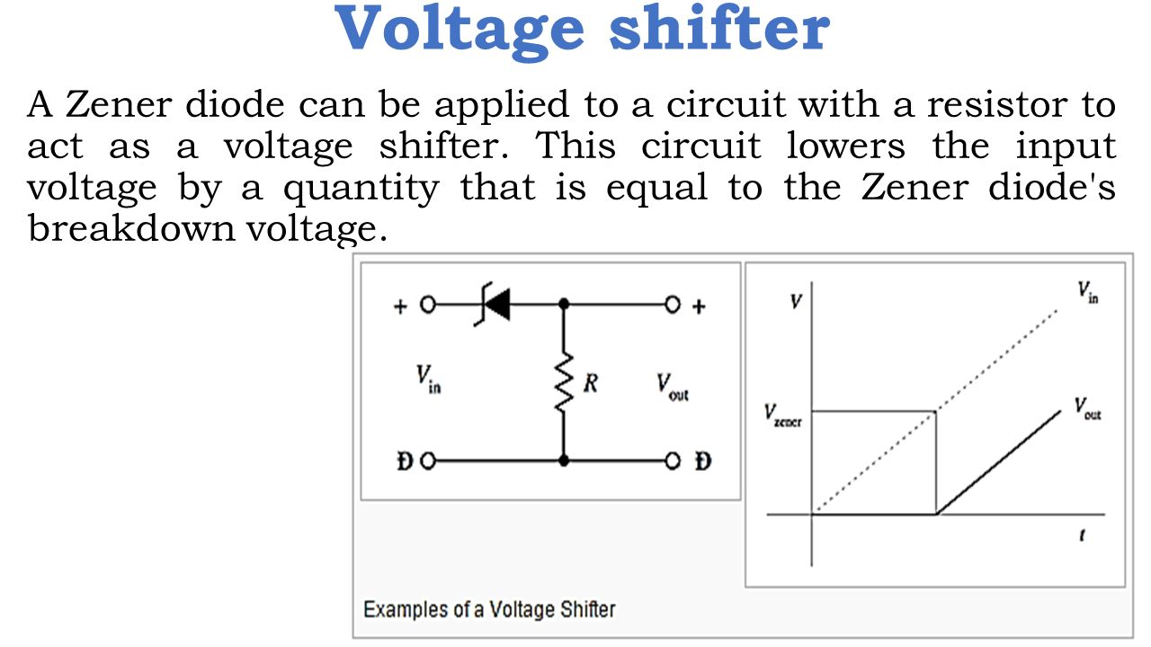 Zener Diode Ppt Video Online Download Circuit Diagram Voltage Regulator 15 Shifter A