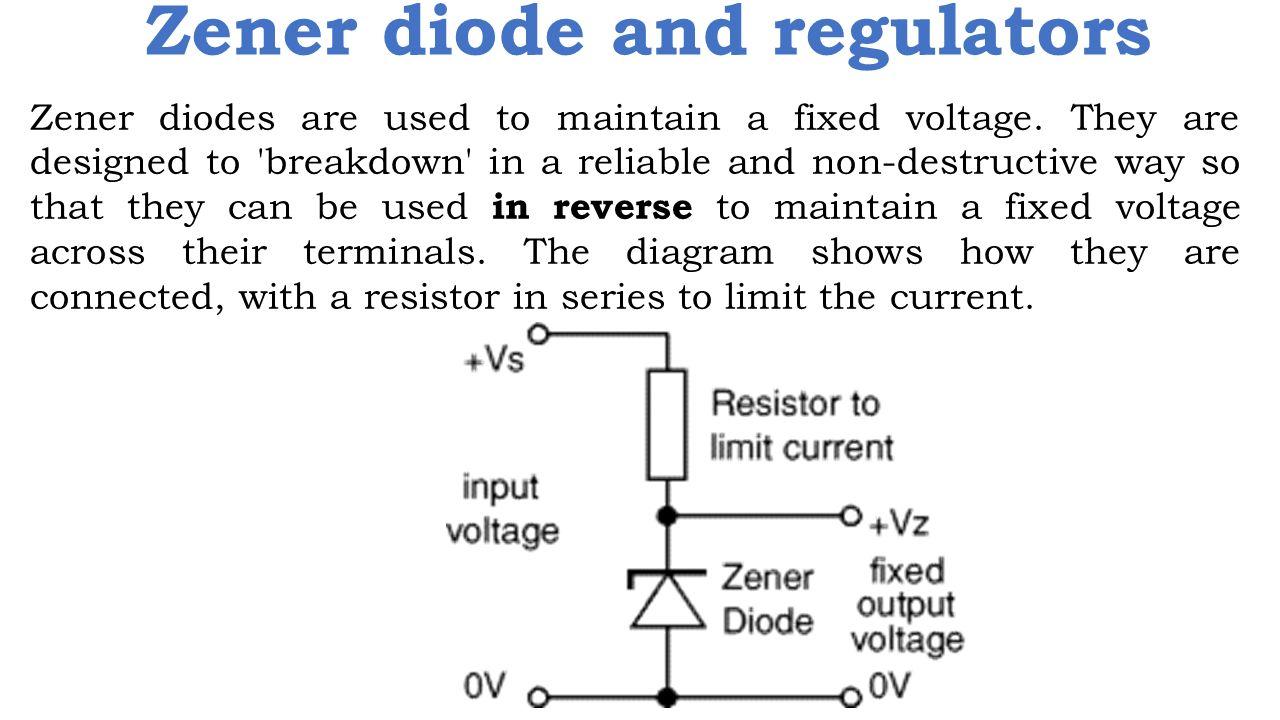 Zener Diode Ppt Video Online Download Circuit Diagram Characteristics And Regulators