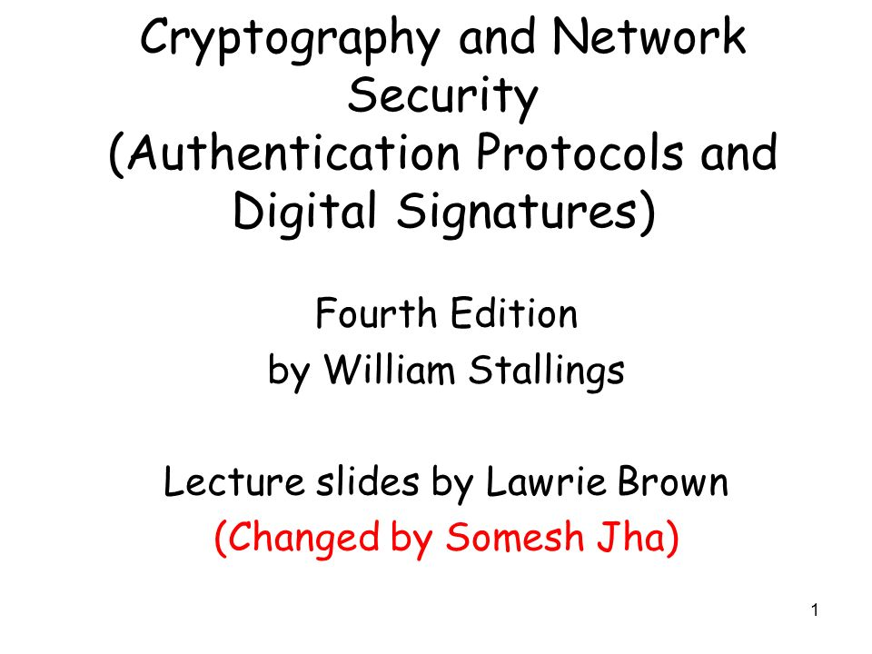 William Stallings Cryptography And Network Security 4th Edition Pdf