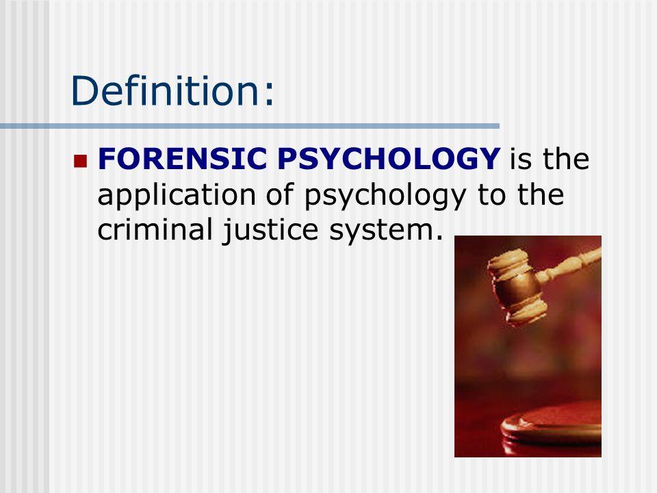 Forensic Psychology Ppt Video Online Download