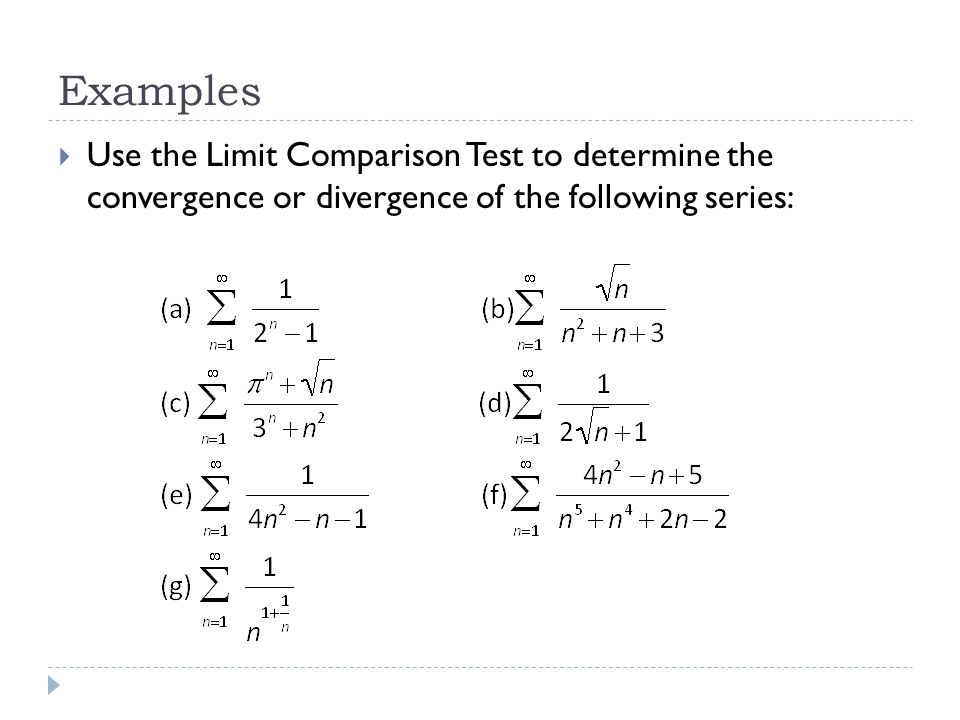 Lesson 69 – Ratio Test & Comparison Tests - ppt video online