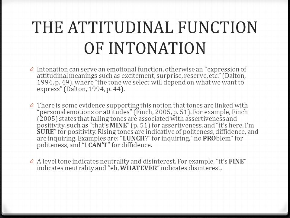The Functions Of Intonation Ppt Download