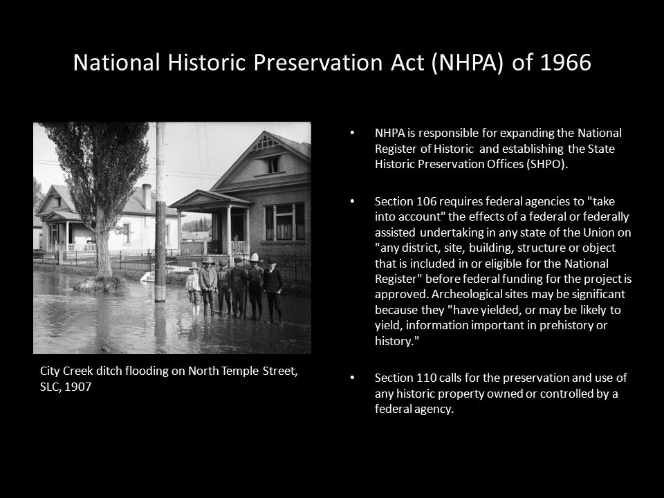 National Historic Preservation Act NHPA Of 1966