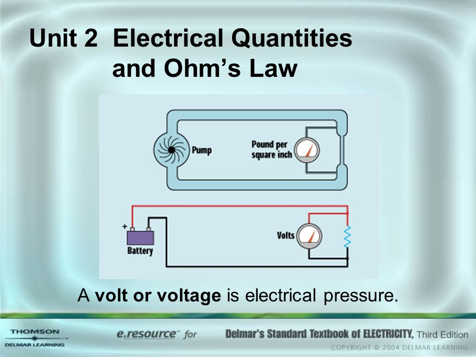 Unit 2 Electrical Quantities and Ohm\'s Law - ppt video online download