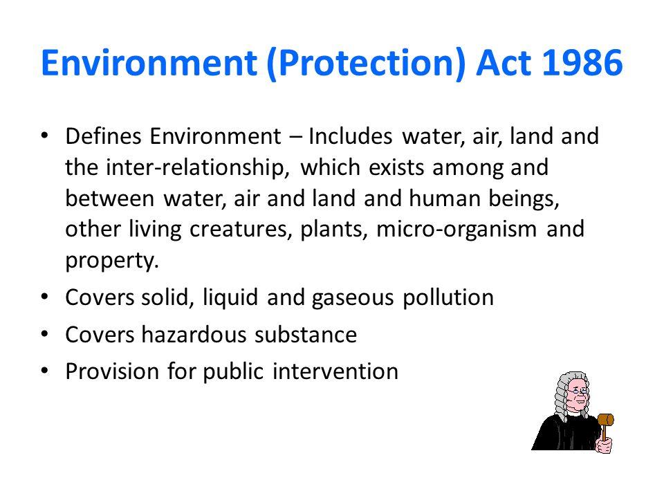 Environment act.