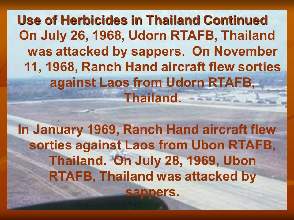 Use of Herbicides in Thailand - ppt video online download