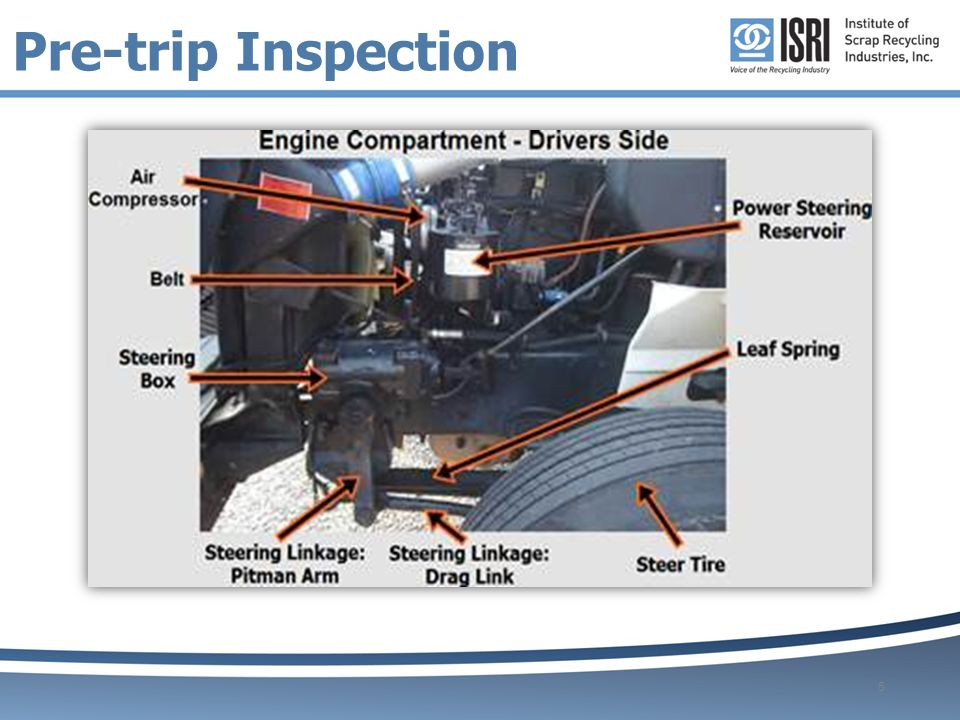 tractor trailer engine diagram pre-trip inspection guide - ppt video online download #13