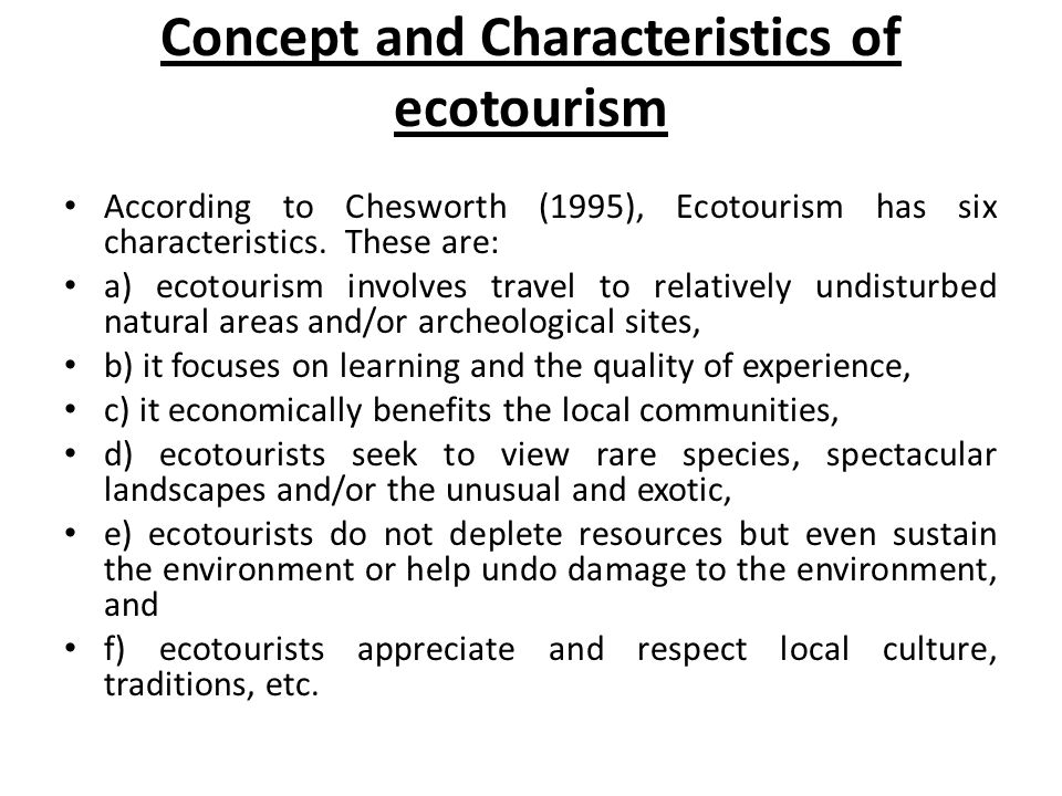 Ecotourism  - ppt video online download