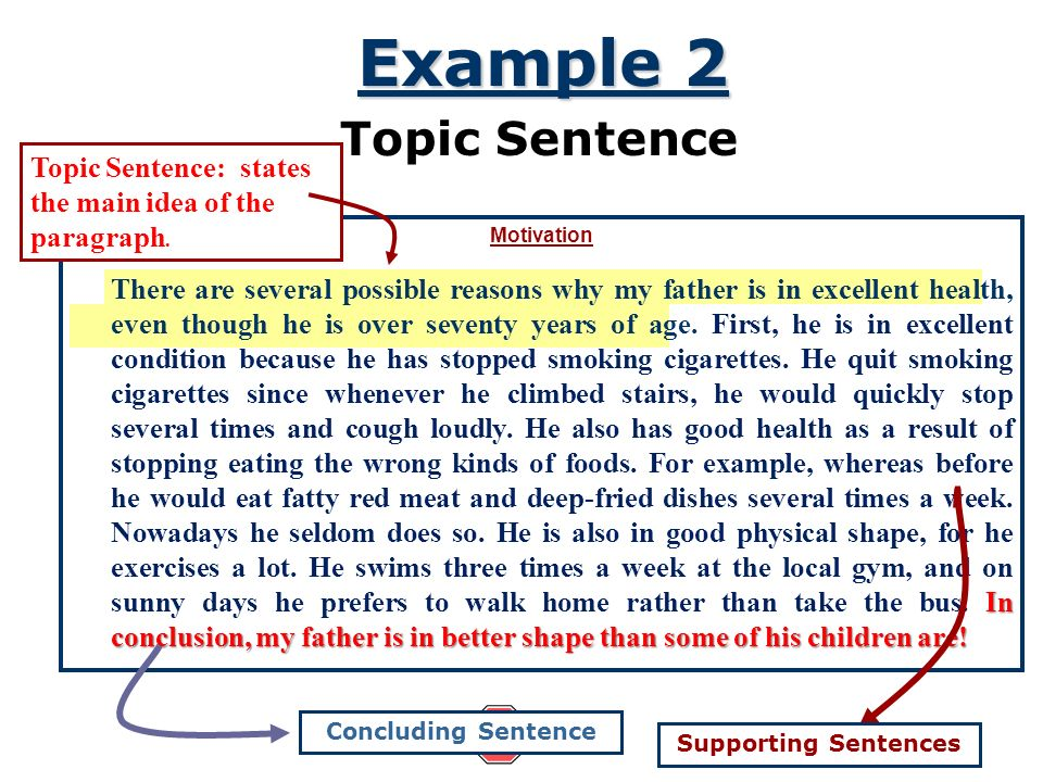 topic sentence experience essay