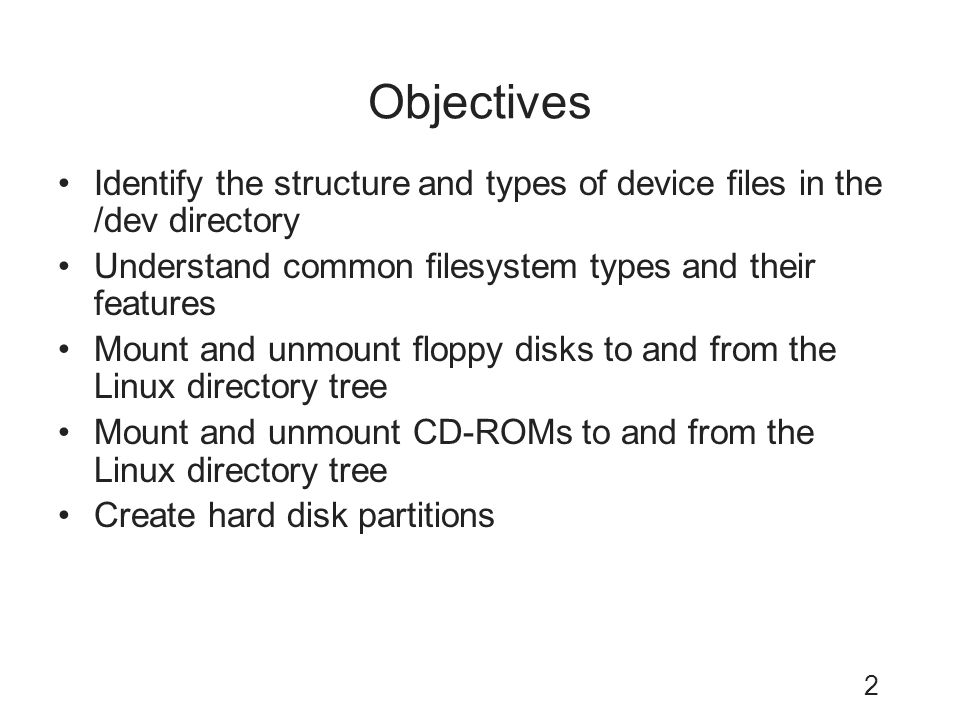 Linux Filesystem Administration - ppt video online download