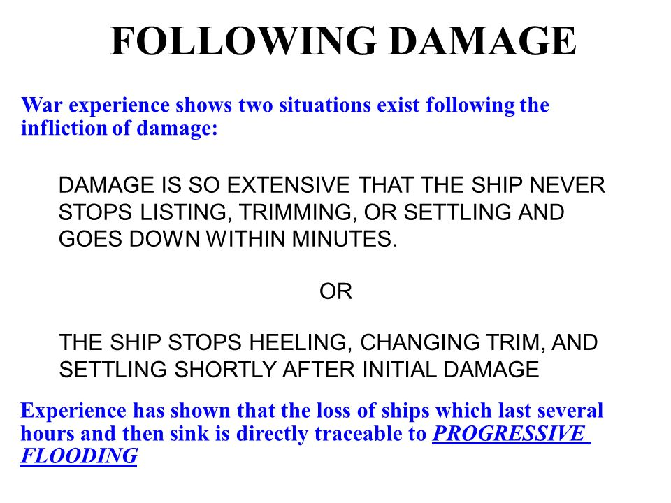Hull Damage and List in Stability - ppt video online download
