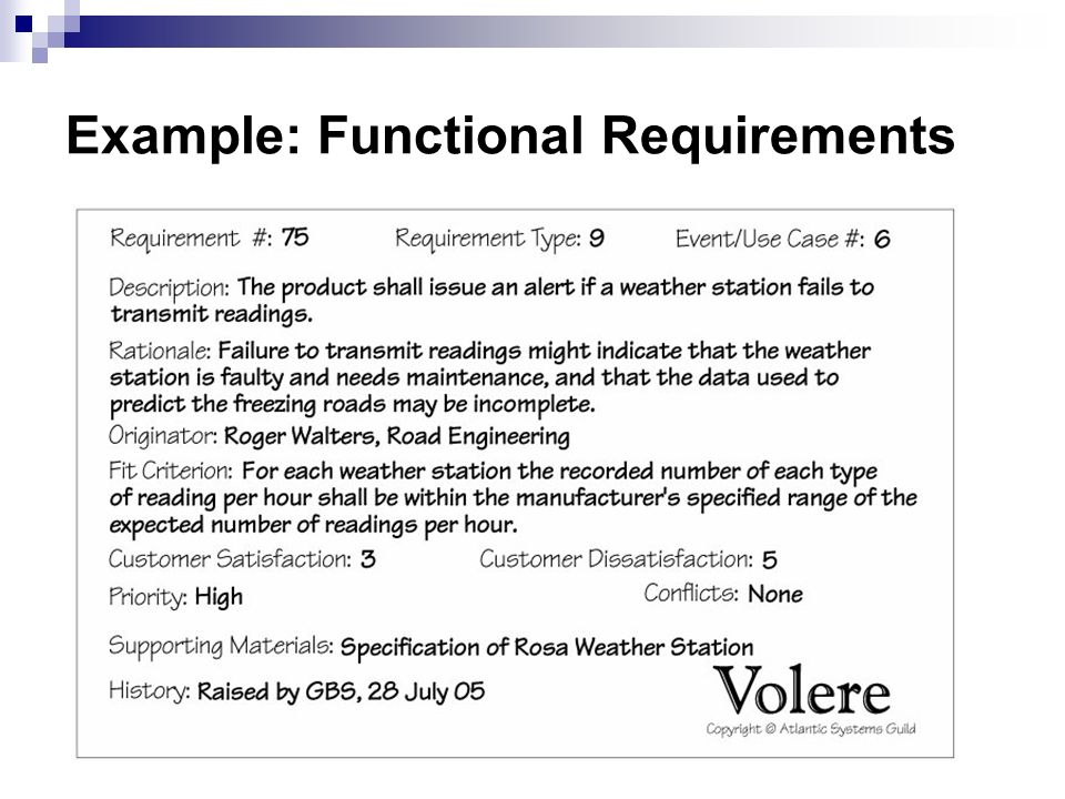 Writing The Requirements Ppt Video Online Download - Functional requirements examples