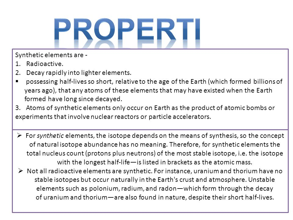 Synthetic Elements Ppt Video Online Download
