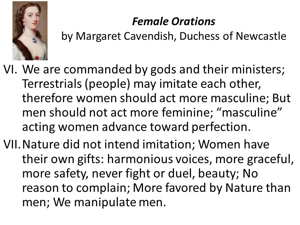 Female Orations by Margaret Cavendish, Duchess of Newcastle