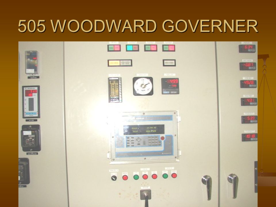 18 mw turbine control panel ppt video online download rh slideplayer com Woodward Protech 203 Peak 150 Governor