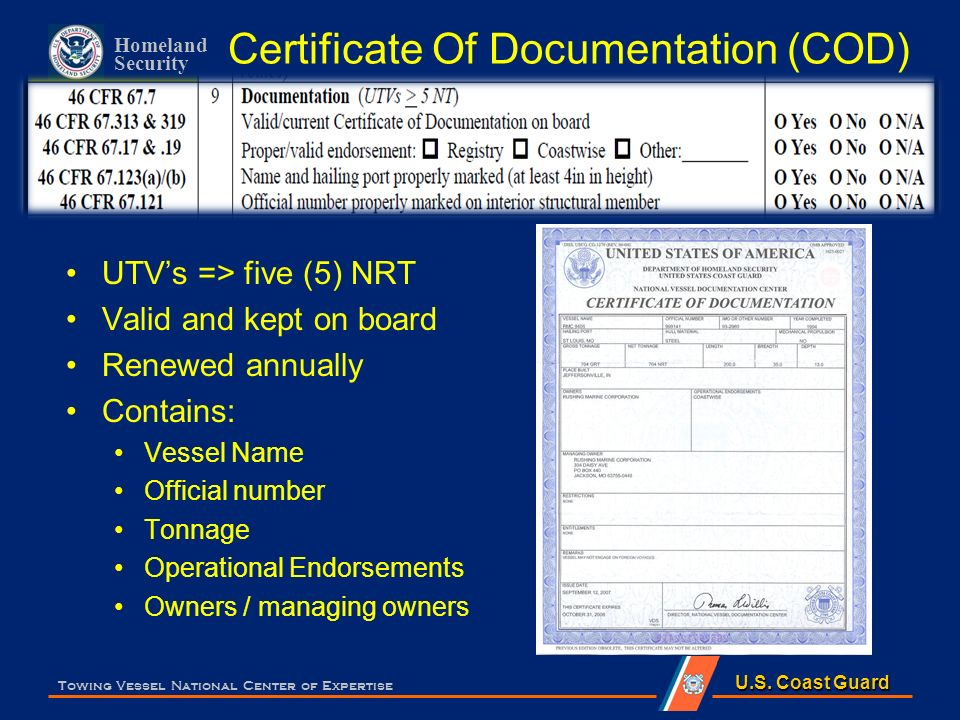 Documents Towing Vessel National Center Of Expertise Ppt Video