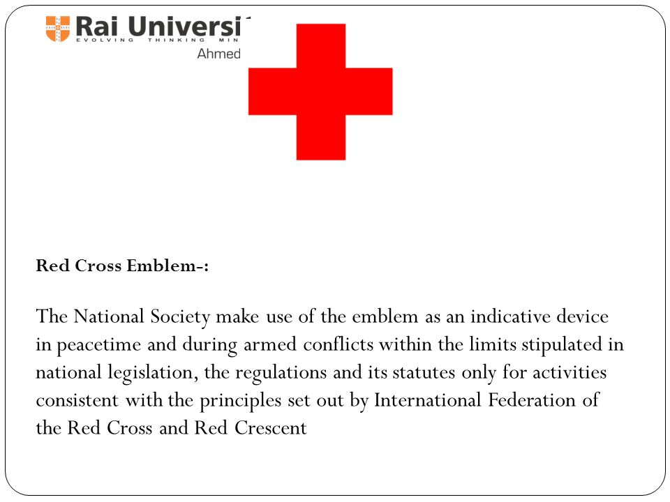 Indian Red Cross Society Through Humanity To Peace Ppt Video