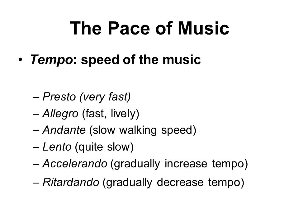 Musical Expression Tempo And Dynamics Ppt Video Online Download