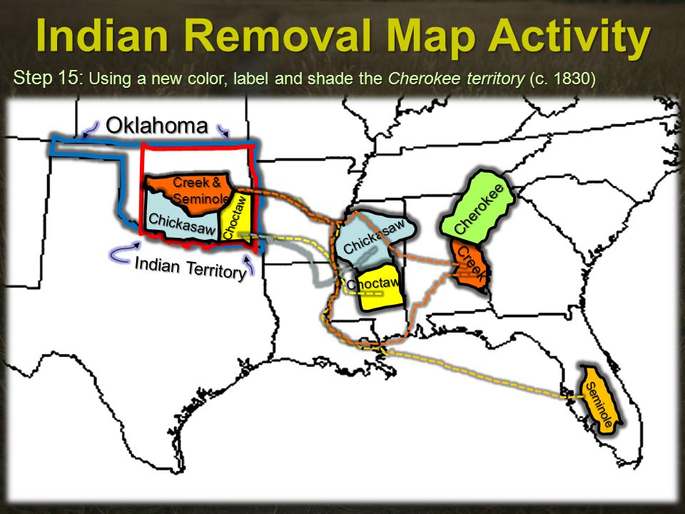 Indian Removal Map Activity - ppt video online download